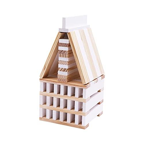 Kapla 8034 Holzplättchen 40-Teilig in Box Weiß - 4
