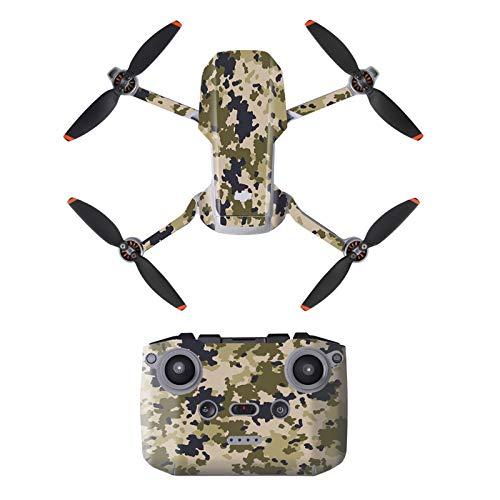 DJFEI Schutzfolie Aufkleber Kit für DJI Mini 2, DIY wasserdichte Aufkleber Skins Wrap Aufkleber Protector für DJI Mavic Mini 2 Drone und Fernbedienung (C)