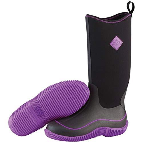 Muck Boots Hale, Damen Stiefel, Black (Black/Purple), 39/40 EU (6 UK)
