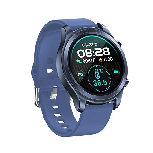QIAI 1,3 Zoll Full Touch Frauen Männer Smart Watch IP68 Wasserdichtes Smart Armband Multisport-Fitness-Tracker Herzfrequenzmesser Smartwatch(Color:D.)