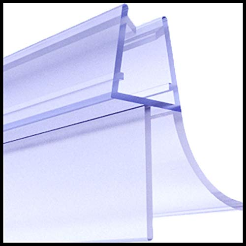 Premium 2 x 80 cm Duschdichtung | Duschkabinen-Dichtung für 6mm 7mm 8mm Glasdicke | Duschtür Dichtung mit verlängerten Gummilippen | Wasserabweiser mit Schwallschutz | Ersatz Duschtürdichtung