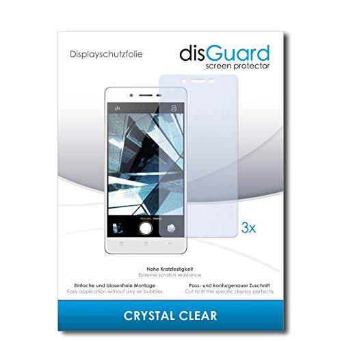 disGuard® Bildschirmschutzfolie [Crystal Clear] kompatibel mit Oppo Mirror 5s [3 Stück] Kristallklar, Transparent, Unsichtbar, Extrem Kratzfest, Anti-Fingerabdruck - Panzerglas Folie, Schutzfolie