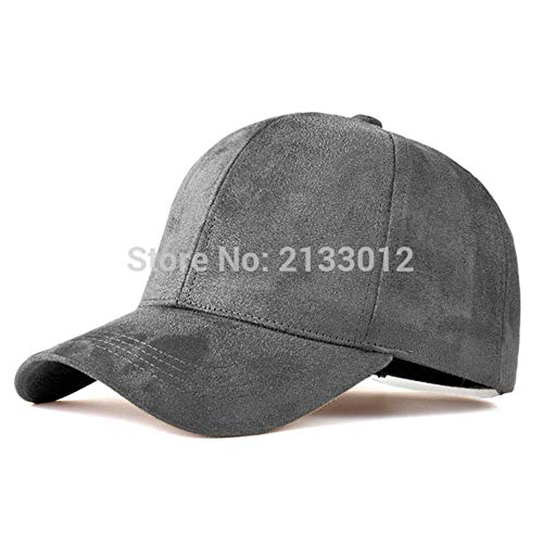 LLine FashionSnapback Baseball Cap Frauen Gorra Cap Street Hip Hop Caps Wildleder Hüte für Damen Schwarz Grau Baseball Cap, drak grau