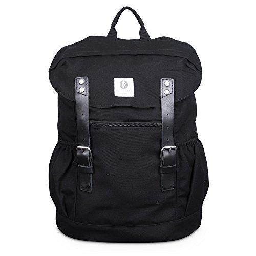 Ridgebake Otone Canvas Rucksack 998 Black/Black Leather
