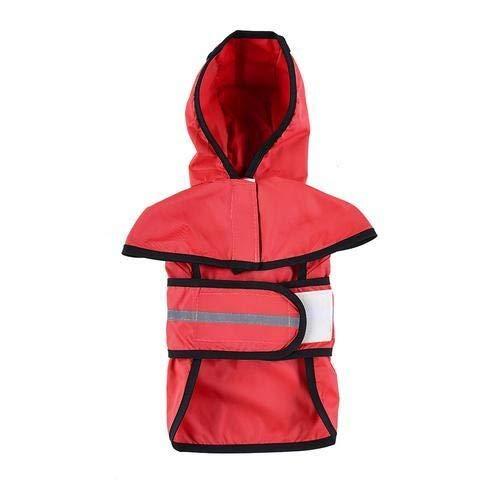Raincoat Gros Chien Raincoat Vêtements de Pluie Veste imperméable Jumpsuit for Animaux Grands Chiens Chiot Rouge Couleur M/L/XL/XXL Nouveau (Color : Red, Size : M)