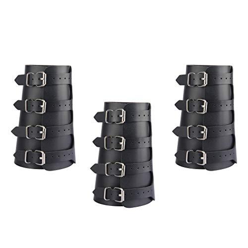 freneci 3pcs Arm Guard Bogenschießen Handschuh Armband Mittelalterliche Armschienen Wikinger Schmuck