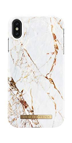 IDEAL OF SWEDEN Handyhülle für iPhone XS Max (Marmor Print) (Carrara Gold)