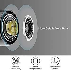 Bluetooth 5.0 Deep Bass True Wireless Earbuds Built-in Microphone, Tranya T3 Sports Wireless Headphones, 6-8 Hours Continuous Playtime,60 Hours Total Playtime with Charging Case,IPX5 Water Proof