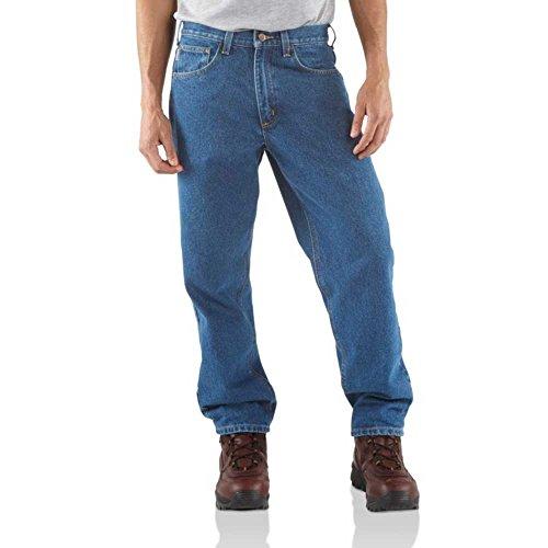 Carhartt Men's B17 Denim Relaxed Fit Jean - 35W x 28L - Stonewash