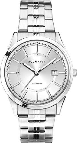 Accurist Watches Herren Analog Quarz Uhr mit Edelstahl Armband 7292