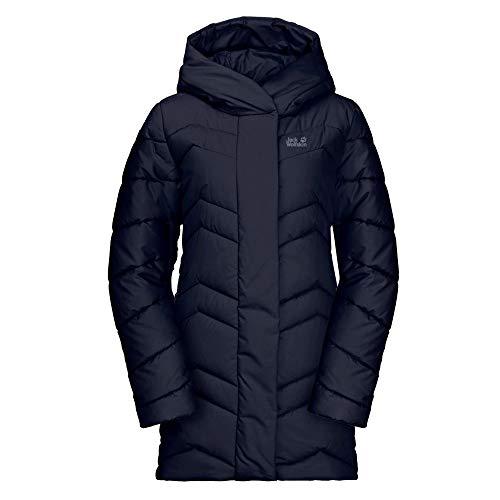 Jack Wolfskin Kyoto Coat W płaszcz pikowany niebieski niebieski (midnight blue) L