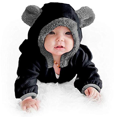 ELECTRI Combinaison de Neige Chaude en Coton Polaire à Capuche pour bébé Fille garçon