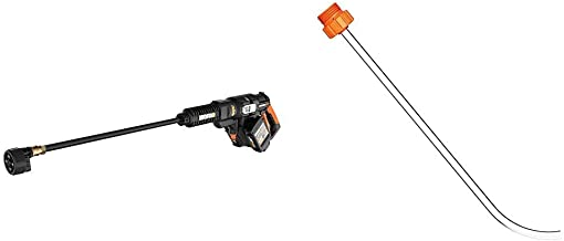 WORX WG644 40V Power Share Hydroshot Portable Power Cleaner (2x20V Batteries),Black and Orange & WA4038 Hydroshot Bottle C...