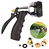 WeyTy Garden Hand Shower Spray Gun with Brass Hose Connector, High Pressure Garden