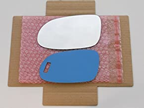 New Replacement Mirror Glass with FULL SIZE ADHESIVE for Mercedes-Benz SL SLK CLK AMG Driver Side View Left LH