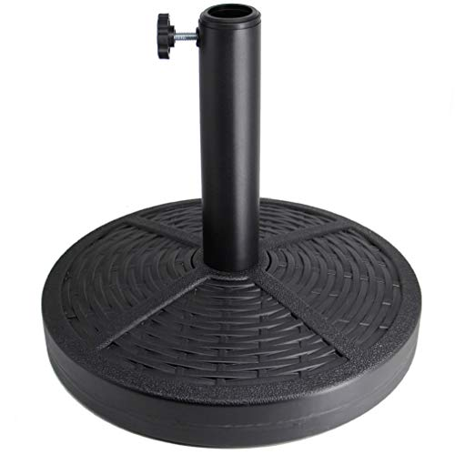 Sfozstra 26.5 lbs Patio Umbrella Base, Concrete Umbrella Base, Market Umbrella Stand, Black