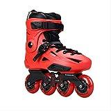 通用 Skate Flying Eagle F3s Patins à Roues alignées Falcon Professionnel Adulte Chaussure De Patinage À roulettes Slalom Glissant Patinage Libre Bon comme SEBA 46 Rouge