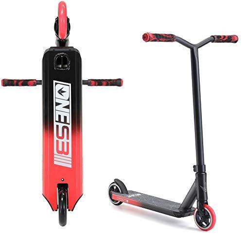 Blunt One S3 Stunt-Scooter H=78cm Park Trick Tret Roller + Fantic26 Sticker (Schwarz/Rot)