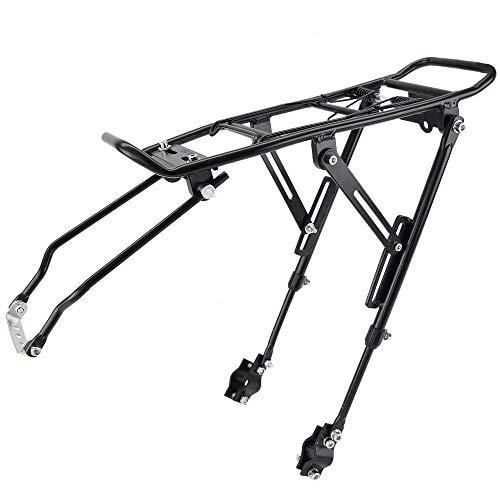 PrimeMatik - Portapacchi Posteriore in Metallo per Bicicletta con Leva 39x34cm