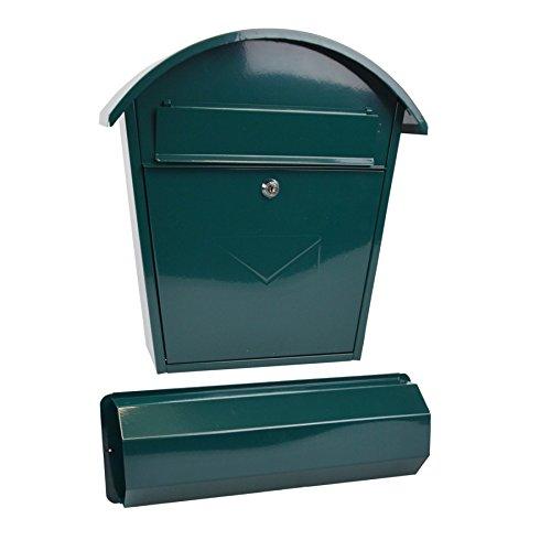 Rottner Tresor Briefkasten Aosta Set grün mit Zeitungsrolle