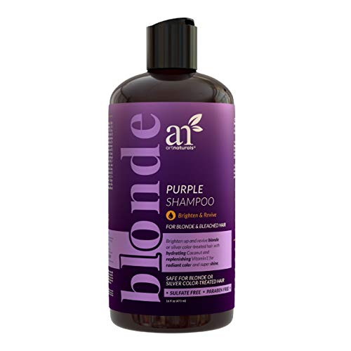 artnaturals Purple Shampoo – ( 16 Fl Oz / 473ml) – Protects, Balances and Tones – Bleached, Color Treated, Silver, Brassy and Blonde Hair - Sulfate Free