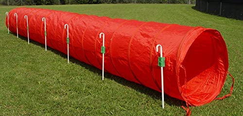18' Mesa Mall Dog Agility Tunnel with Stakes Multiple Colors Excellence Available