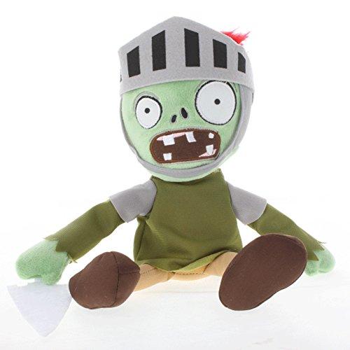 TavasHome Plants vs Zombies 2 PVZ Figures Plush Baby Staff Toy Stuffed Soft Doll 13cm-35cm Soft PP Cotton (Knight Zombie)
