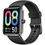Dirrelo Smart Watch, 1.55' Touch Screen Fitness Tracker, Blood Oxygen, Heart Rate, Sleep Monitor, Female Health Activity Tracker Pedometer, IP68 Waterproof for Women Men iOS Android Phones-Black