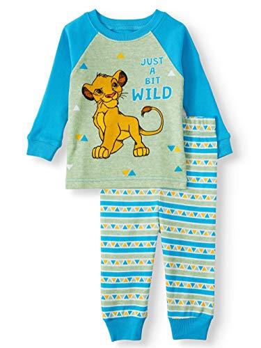 Disney Lion King Just A Bit Wild Baby Boys 2 Piece Sleepwear Pajama Set (12 Months)