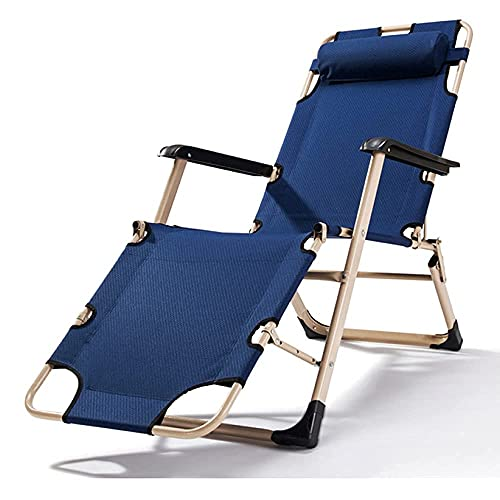 Patio Lounge ChairsSun Loungers Zero Gravity Folding Garden Recliner Chairs for Outdoor Camping Beach Portable Deck Chairs Reclining-Suitable for Small Spaces,Max 250 Kg,Blue-B