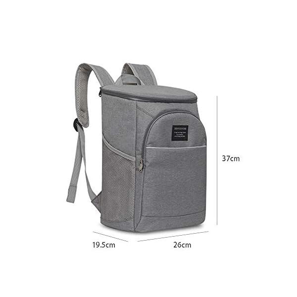 41iBoMmknUL. SS600  - FengHui 18L refrigerador aislado caja de almuerzo del bolso del almuerzo grande enfriador mochila bolsa Azul, valor…