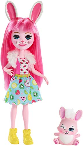 Enchantimals - Bree Bunny y Twist, muñeca con mascota (Matty FXM73)
