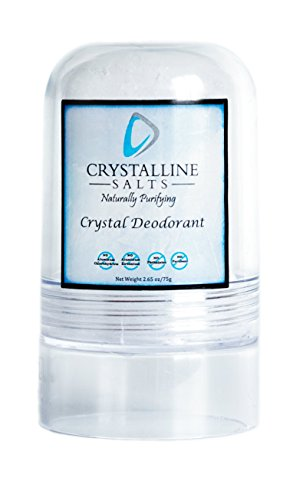 Premium Crystal Deodorant - All Natural Deodorant Made From Natural Mineral Salts Harvested From the Pristine Mountains of Thailand - Ideal for Athletes. Combats Odor Naturally. No Stains, No Synthetics, Aluminum Free. For Men and Women. Natural Salt Rock. by Crystalline Salts