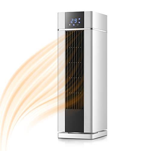 SHPEHP Bajo Consumo Calentador De Espacio,Baño Calefactor Eléctrico Portátil Cerámico Calentamiento rápido Hogar Pequeño Calefactor para Dormitorio,Uso De Oficina E Interior-Blanco Un