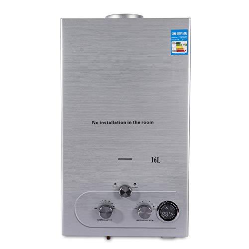 16L Calentador de agua instantaneo Calentador de agua de gas natural 32KW para cocina y bano DHL