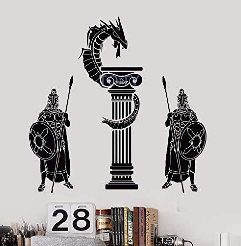 shiyueNB Antieke Griekse oorlogse draak muurtattoo Boy Room Vinyl sticker kunst decor bar studio woonhuis interieurschilderij 57 * 57 cm