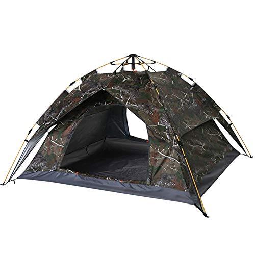 CDESY Zelt Sekundenzelt Camping 3-4 Personen Kuppelzelt Mit Quick-Up-System Wurfzelt Wasserdicht Sonnenschutz Outdoor 215 * 215 * 135Cm
