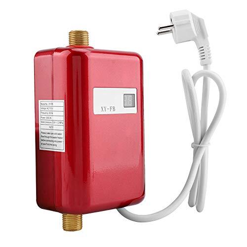 220 V 3800 Watt Mini Durchlauferhitzer Elektrische Durchlauferhitzer Elektrische Warmwasserbereiter mit Schraube und Handbuch für Home Bad Küche Waschen EU Stecker(Rot)