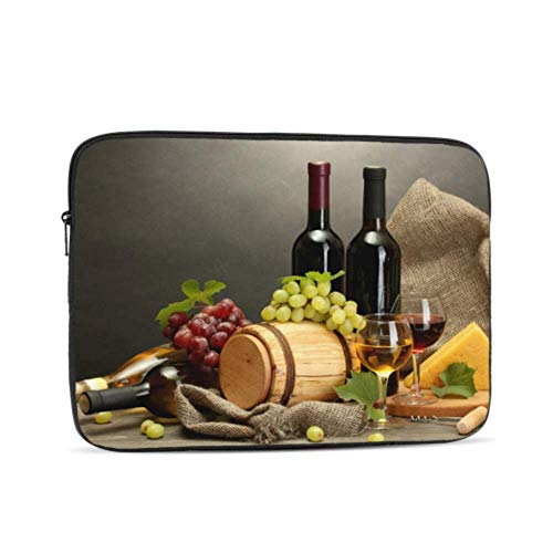 MacBook 13 Inch Case Bottle Wine and Grape On Table MacBook Pro Case 15 Multi-Color & Size Choices10/12/13/15/17 Inch Computer Tablet Briefcase Carrying Bag