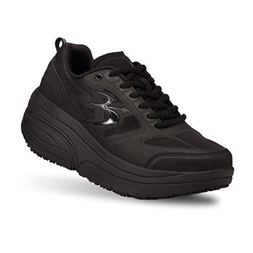 Gravity Defyer Women's G-Defy Ion Black Athletic Shoes 11 XW US US - Non-Slip Work Walking Shoes Plantar Fasciitis Shoes