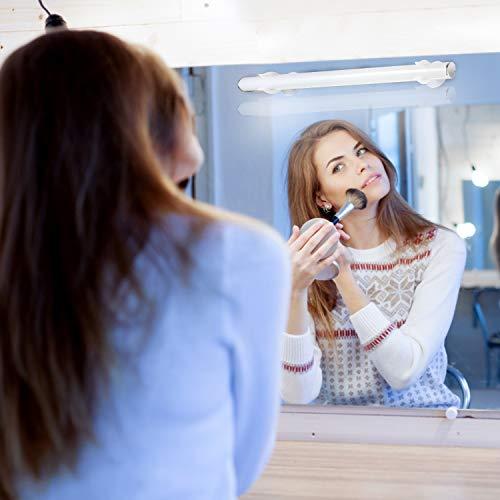 VINGO LED Spiegelleuchte Schminklicht Spiegellampe, Touch Schalter, Memory-Funktion, 3 Installationsmethoden, 300lm Dimmbar Schminkleuchte für Kosmetikspiegel Schminktisch