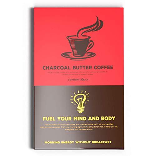 MCTオイル 配合 バターコーヒー 低糖質(30包)ダイエットコーヒー チャコールバターコーヒー… (スタンダード)