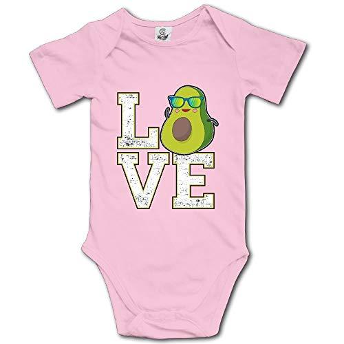 ngmaoyouxis Bébé Filles garçons Confortables à Manches Courtes Infantile bébé grenouillères J'aime Les vêtements de Douche de bébé Avocat