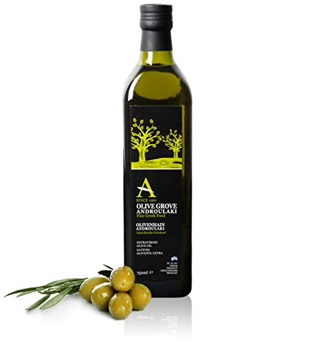 Olivenöl Androulakis Extra Natives Olivenöl 750ml - Olivenöl kaltgepresst aus Kreta Griechenland.Mild im Geschmack. Ernte 2021.
