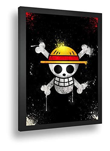 Quadro Decorativo Poste One Piece Piratas Luffy Chapel