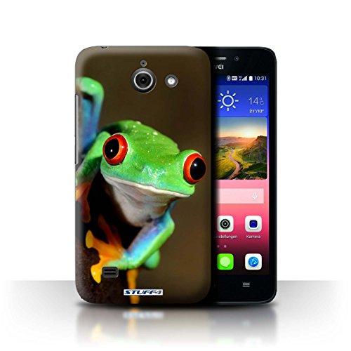Hülle Für Huawei Ascend Y550 LTE Wilde Tiere Frosch Design Transparent Ultra Dünn Klar Hart Schutz Handyhülle Hülle