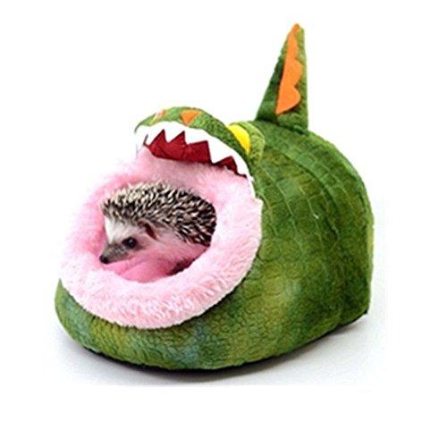Minkoll Hamaca pequeña para mascotas, diseño de animales pequeños, para casa de ratas y cobayas, ideal para nido o cama, diseño de erizo (cocodrilo)