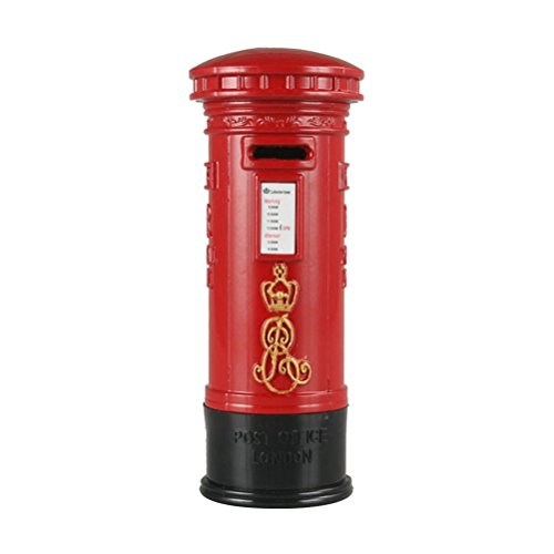 YeahiBaby 7 '' Británico Buzón Rojo Hucha | Mini