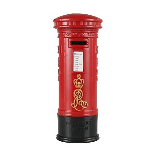 TOYMYTOY 7'' Red Mailbox Piggy Bank | Mini Postbox Coin Storage, Vintage Decor