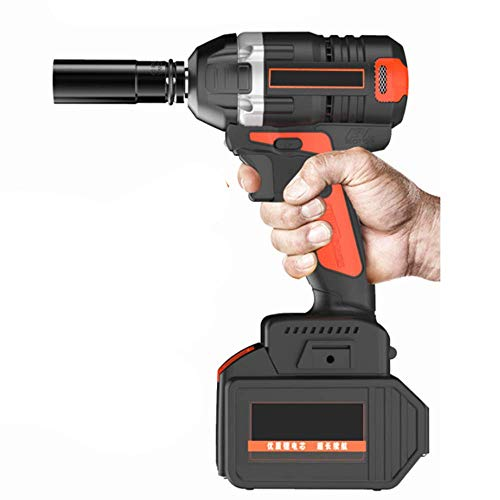 XDXDO Cordless Rechargeable Impact Wrench Set Portable Professional Electric Wrench, Equipped with 22 Accessories And 2X Lithium Batteries, Torque: 350Nm, LED Lighting